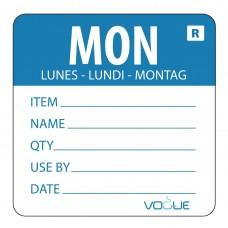 Kleurcodesticker maandag Hygiene Dagstickers
