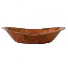 Ovale houten schaal 18x23cm Broodmanden