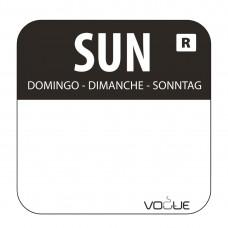 Kleurcode sticker zondag/zwart Hygiene Dagstickers