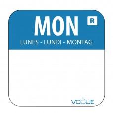 Kleurcode sticker maandag/blauw Hygiene Dagstickers