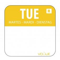 Kleurcode sticker dinsdag/geel Hygiene Dagstickers