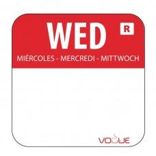 Kleurcode sticker woensdag/rood Hygiene Dagstickers