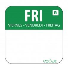 Kleurcode sticker vrijdag/groen