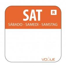Kleurcode sticker zaterdag/oranje Hygiene Dagstickers