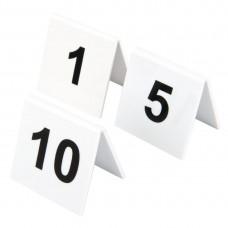 Olympia plastic tafelnummers 1-10 Tafelstandaards