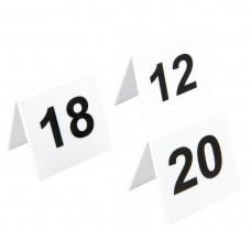 Olympia plastic tafelnummers 11-20 Tafelstandaards