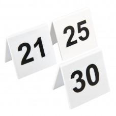 Olympia plastic tafelnummers 21-30 Tafelstandaards