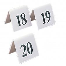 Olympia plastic tafelnummers 31-40 Tafelstandaards