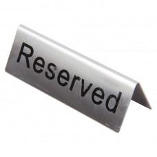 RVS tafelbordje RESERVED Tafelstandaards