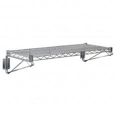 Vogue draad wandplank 61x36cm RVS Wandplanken