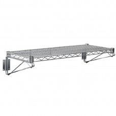 Vogue draad wandplank 122x36cm RVS Wandplanken