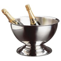 RVS champagne bowl Wijn- Champagnekoelers