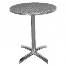 Bolero RVS tafel opklapbaar rond 60cm Bistrotafels