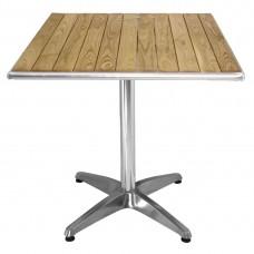 Bolero tafel essenhout blad vierkant 60cm Bistrotafels