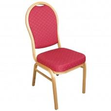 Bolero banketstoel met ronde rug rood Stackchairs