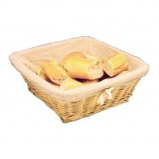 Broodmand met hoes 23x23cm Broodmanden