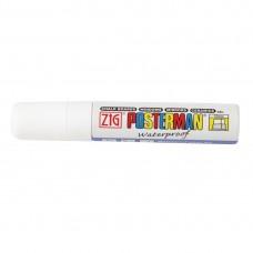 Zig Posterman weerbestendige stift wit 1,5cm Stoepborden
