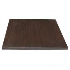 Bolero vierkant tafelblad donkerbruin 70cm Vierkante Tafelbladen