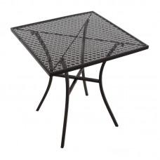 Bolero stalen bistrotafel vierkant met patroon 700mm zwart Bistrotafels