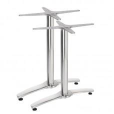 Bolero Dubbele Aluminium Tafelpoot Set van 2 Tafelpoot RVS & Verchroomd