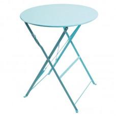 Bolero opklapbare stalen ronde tafel blauw Bistrotafels