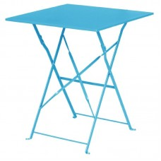 Bolero opklapbare stalen vierkante tafel blauw Bistrotafels