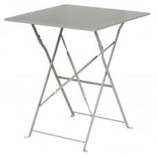 Bolero opklapbare stalen vierkante tafel grijs Bistrotafels
