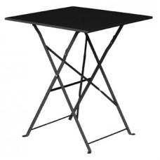 Bolero opklapbare stalen vierkante tafel zwart Bistrotafels