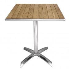 Bolero essenhouten opklapbare bistrotafel vierkant 60cm Bistrotafels