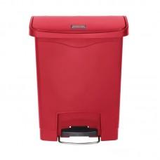 Rubbermaid Slim Jim pedaalemmer met pedaal aan voorzijde 30ltr rood Afvalbeheer