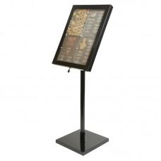 Securit LED info display zwart Menumappen