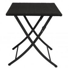 Bolero opklapbare rotan vierkante tafel 60cm Bistrotafels