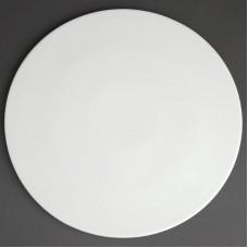 Olympia Whiteware Pizzabord Ø 33 cm. Per 6 Olympia Wit Porselein