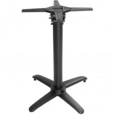 Bolero Opklapbare Aluminium Tafelpoot Zwart Hoogte 72 cm. Tafelpoot RVS & Verchroomd