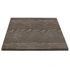 Bolero Vierkant Tafelblad Houtlook Wenge | 70 x 70 cm. | 3 cm. Dikke Rand Tafelbladen Bolero Vierkant