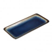 Olympia Nomi Rechthoekig Tapasbord Blauw-Zwart 24.5 x 11 cm. Per 6 Olympia Nomi Nieuw