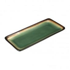 Olympia Nomi Rechthoekig Tapasbord Groen-Zwart 24.5 x 11 cm. Per 6 Olympia Nomi Nieuw
