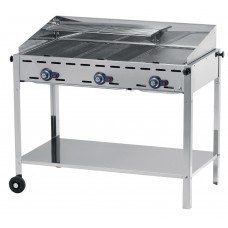 Green Fire Gasbarbecue met 3 Branders Profi Line Barbecue Gas