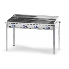 Green Fire Gasbarbecue met 4 Branders Profi Line Barbecue Gas