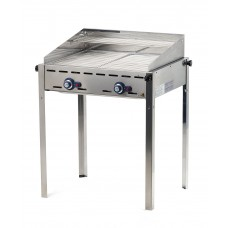 Green Fire Gasbarbecue met 2 Roosters GN1/1 Profi Line Barbecue Gas