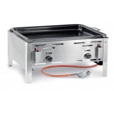 Hendi Bake Master Maxi Gasbarbecue met Bakplaat Barbecue Gas