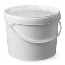 Emmer met Deksel Wit Kunstof 11.5 Liter Emmers