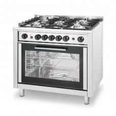 Gasfornuis 5 pitten met Elektrische GN1/1 Oven  Fornuizen