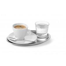 Koffieplateau Ovaal Roestvaststaal 200x140mm Serveerschalen