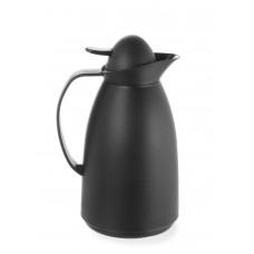 Thermoskan met Glazen Binnenfles Zwart 1 Liter Thermoskannen