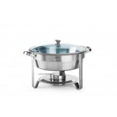 Chafing Dish Rond met Glazen Deksel 3.5 Liter Chafing Dishes