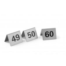 Tafelstandaard Nummers 49-60 mm Per 12 Tafelstandaards