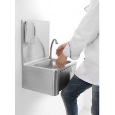 Wasbak met Kniebediening en Spatscherm RVS RVS Spoeltafel