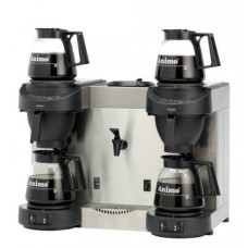 M-Line | Koffiezetapparaat | Waterkoker | 4 x Glazen Kan | Vast water | M202W Glazenkan Apparatuur