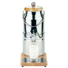 Melkdispenser RVS 18/10 + Hout